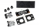 8013 Grille, Land Rover® Defender®/ grille mount (3)/ headlight housing (2)/ lens (2)/ headlight mount (2) (fits #8011 body)