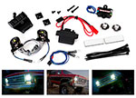 8038 LED light set, complete with power supply (contains headlights, tail lights, side marker lights, distribution block, and power supply) (fits #8130 body)