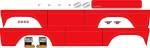 8078R Decal sheet, Bronco, red (fits #8010 body)