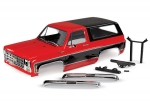 8130R Body, Chevrolet Blazer (1979), complete (red) (includes grille, side mirrors, door handles, windshield wipers, front & rear bumpers, decals)