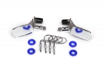 8133 Mirrors, side, chrome (left & right)/ o-rings (4)/ body clips (4) (fits #8130 body)