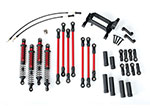 8140R Long Arm Lift Kit, TRX-4®, complete (includes red powder coated links, red-anodized shocks)