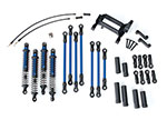 8140X Long Arm Lift Kit, TRX-4®, complete (includes blue powder coated links, blue-anodized shocks)
