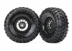 "8174 Tires and wheels, assembled (Method 105 1.9"" black chrome beadlock wheels, Canyon Trail 4.6x1.9"" tires, foam inserts) (1 left, 1 right)"