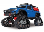 Blue TRX-4® with All-Terrain Traxx™:  1/10 Scale 4WD Electric Truck. Ready-to-Race® with TQ 2.4GHz Radio System, XL-5 HV ESC (fwd/rev), and Titan® 550 motor.