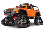 Orange TRX-4® with All-Terrain Traxx™:  1/10 Scale 4WD Electric Truck. Ready-to-Race® with TQ 2.4GHz Radio System, XL-5 HV ESC (fwd/rev), and Titan® 550 motor.