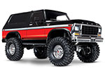 Red TRX-4® Scale and Trail® Crawler with Ford Bronco Body: 1/10 Scale 4WD Electric Truck. Ready-to-Drive® with TQi Traxxas Link™ Enabled 2.4GHz Radio System, XL-5 HV ESC (fwd/rev), and Titan® 550 motor.