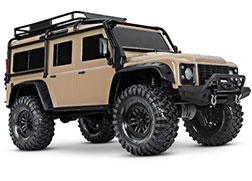 82056-4 TRX-4® Scale and Trail® Crawler with Land Rover® Defender® Body:  4WD Electric Trail Truck with TQi Traxxas Link™ Enabled 2.4GHz Radio System