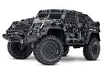 Blk/Grey Camo TRX-4® Tactical Unit: 1/10 Scale 4WD Electric Truck. Ready-to-Drive® with TQi Traxxas Link™ Enabled 2.4GHz Radio System, XL-5 HV ESC (fwd/rev), and Titan® 550 motor.