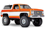 ORANGE TRX-4® Scale and Trail™ Crawler with 1979 Chevrolet Blazer Body: 1/10 Scale 4WD Electric Truck. Ready-to-Drive® with TQi Traxxas Link™ Enabled 2.4GHz Radio System, XL-5 HV ESC (fwd/rev), and Titan® 550 motor.
