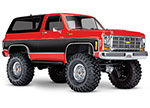 RED TRX-4® Scale and Trail™ Crawler with 1979 Chevrolet Blazer Body: 1/10 Scale 4WD Electric Truck. Ready-to-Drive® with TQi Traxxas Link™ Enabled 2.4GHz Radio System, XL-5 HV ESC (fwd/rev), and Titan® 550 motor.