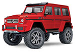 RED TRX-4® Scale and Trail™ Crawler with Mercedes-Benz® G 500®  4x4²  Body:  1/10 Scale 4WD Electric Trail Truck. Ready-to-Drive® with TQi Traxxas Link™ Enabled 2.4GHz Radio System, XL-5 HV ESC (fwd/rev), and Titan® 550 motor.
