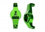 8232G Caster blocks, 6061-T6 aluminum (green-anodized), left and right