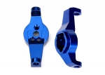 8232X Caster blocks, 6061-T6 aluminum (blue-anodized), left and right