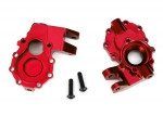 8252R Portal housings, inner (front), 6061-T6 aluminum (red-anodized) (2)/ 3x12 BCS (2)