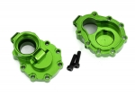 8253G Portal housings, inner (rear), 6061-T6 aluminum (green-anodized) (2)/ 2.5x10 CS (2)