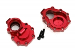 8253R Portal housings, inner (rear), 6061-T6 aluminum (red-anodized) (2)/ 2.5x10 CS (2)