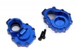8253X Portal housings, inner (rear), 6061-T6 aluminum (blue-anodized) (2)/ 2.5x10 CS (2)