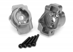 8256A Portal drive axle mount, rear, 6061-T6 aluminum (charcoal gray-anodized) (left and right)/ 2.5x16 CS (4)