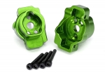 8256G Portal drive axle mount, rear, 6061-T6 aluminum (green-anodized) (left and right)/ 2.5x16 CS (4)