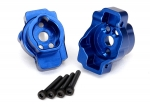 8256X Portal drive axle mount, rear, 6061-T6 aluminum (blue-anodized) (left and right)/ 2.5x16 CS (4)