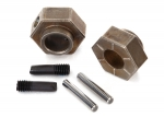 8269 Wheel hubs, 12mm hex (2)/ stub axle pins (2) (steel) (fits TRX-4®)