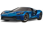 BLUE Ford GT®: 1/10 Scale AWD Supercar with TQi Traxxas Link™ Enabled 2.4GHz Radio System & Traxxas Stability Management (TSM)®