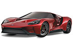 RED Ford GT®: 1/10 Scale AWD Supercar with TQi Traxxas Link™ Enabled 2.4GHz Radio System & Traxxas Stability Management (TSM)®