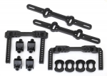 8316 Body mounts, front & rear/ body mount posts/ body mount sliders