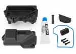 8324 Box, receiver (sealed) (steering servo mount)/ receiver cover/ access plug/ foam pads/ silicone grease/ 2.5x10 CS (3)