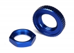 8345 Servo saver nuts, aluminum, blue-anodized (hex (1), serrated (1))