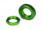 8345G Servo saver nuts, aluminum, green-anodized (hex (1), serrated (1))