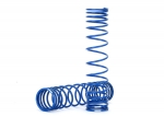 8444A Spring, shock, front (blue) (GTR) (progressive, 0.833 rate, white stripe) (2)