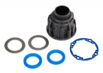 8581 Carrier, differential (front or center)/ x-ring gaskets (2)/ ring gear gasket/ 14.5x20 TW (2)