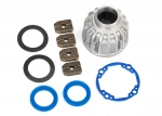 8581X Carrier, differential, aluminum (front or center)/ x-ring gaskets (2), ring gear gasket/ 14.5x20 TW (2)
