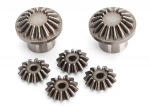 8582 Gear set, differential (front) (output gears (2)/ spider gears (4))