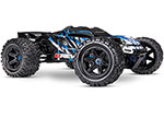 BLUE E-Revo® VXL Brushless:  1/10 Scale 4WD Brushless Electric Monster Truck with TQi 2.4GHz Traxxas Link™ Enabled Radio System, Velineon® VXL-6s brushless ESC (fwd/rev), and Traxxas Stability Management (TSM)®