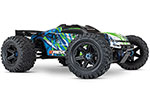 GREEN E-Revo® VXL Brushless:  1/10 Scale 4WD Brushless Electric Monster Truck with TQi 2.4GHz Traxxas Link™ Enabled Radio System, Velineon® VXL-6s brushless ESC (fwd/rev), and Traxxas Stability Management (TSM)®