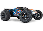 ORANGE E-Revo VXL Brushless:  1/10 Scale 4WD Brushless Electric Monster Truck with TQi 2.4GHz Traxxas Link Enabled Radio System, Velineon VXL-6s brushless ESC (fwd/rev), and Traxxas Stability Management (TSM)