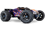 PURPLE E-Revo® VXL Brushless:  1/10 Scale 4WD Brushless Electric Monster Truck with TQi 2.4GHz Traxxas Link™ Enabled Radio System, Velineon® VXL-6s brushless ESC (fwd/rev), and Traxxas Stability Management (TSM)®