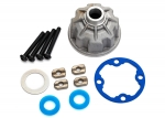 8681X Carrier, differential (aluminum)/ x-ring gaskets (2)/ ring gear gasket/ spacers (4)/ 12.2x18x0.5 metal washer