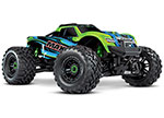 GREEN Maxx®: 1/10 Scale 4WD Brushless Electric Monster Truck. Fully assembled, Ready-to-Race®, with TQi Traxxas Link™ Enabled 2.4GHz Radio System with Traxxas Stability Management (TSM)®, Velineon® VXL-4s Brushless Power System, and ProGraphix® pai