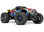 RNR Maxx®: 1/10 Scale 4WD Brushless Electric Monster Truck. Fully assembled, Ready-to-Race®, with TQi Traxxas Link™ Enabled 2.4GHz Radio System with Traxxas Stability Management (TSM)®, Velineon® VXL-4s Brushless Power System, and ProGraphix® paint