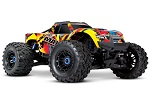 Solar Flare Maxx®: 1/10 Scale 4WD Brushless Electric Monster Truck. Fully assembled, Ready-to-Race®, with TQi Traxxas Link™ Enabled 2.4GHz Radio System with Traxxas Stability Management (TSM)®, Velineon® VXL-4s Brushless Power System, and ProGraphix