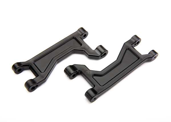 8929 Suspension arms, upper, black (left or right, front or rear) (2)