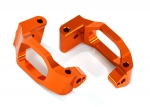 8932A Caster blocks (c-hubs), 6061-T6 aluminum (orange-anodized), left & right/ 4x22mm pin (4)/ 3x6mm BCS (4)/ retainers (4)