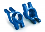 8952X Carriers, stub axle (blue-anodized 6061-T6 aluminum) (rear) (2)
