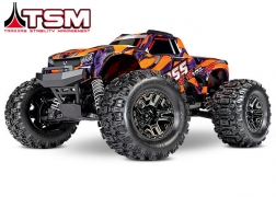 90076-4 Hoss™ 4X4 VXL: 1/10 Scale Monster Truck with TQi Traxxas Link™ Enabled 2.4GHz Radio System & Traxxas Stability Management (TSM)®