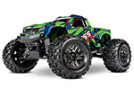 Green & Blue Hoss™ 4X4 VXL: 1/10 Scale Monster Truck with TQi Traxxas Link™ Enabled 2.4GHz Radio System & Traxxas Stability Management (TSM)®