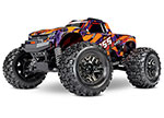 Orange & Purple Hoss™ 4X4 VXL: 1/10 Scale Monster Truck with TQi Traxxas Link™ Enabled 2.4GHz Radio System & Traxxas Stability Management (TSM)®